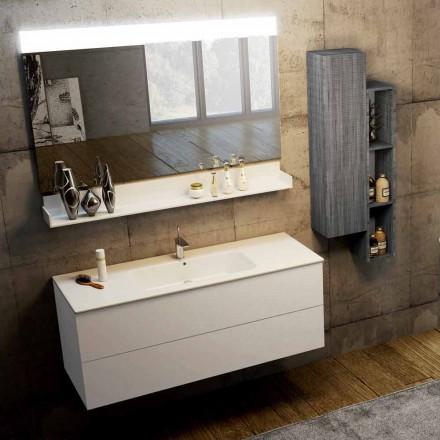 Samenstelling van moderne hangende badkamermeubels gemaakt in Italië, Bari