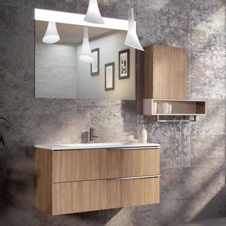 De opgeschorte samenstelling van het badkamersontwerp in ecolegno gemaakt tot Italië, Cesena