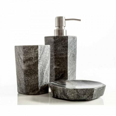 Ongekend Set designaccessoires voor badkamer in grijs, grijs marmer van TP-28