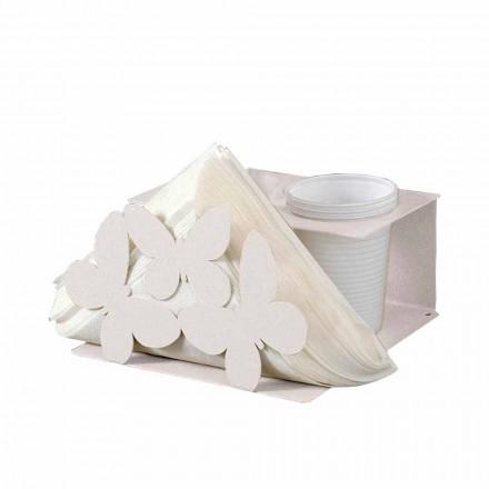 Moderne servetten en glazen in fijn ijzer Made in Italy - Leiden