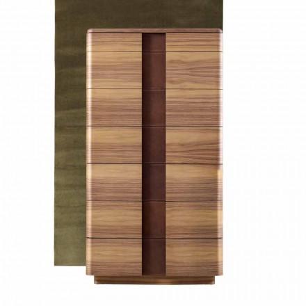 Modern massief houten bed Grilli York gemaakt in Italië