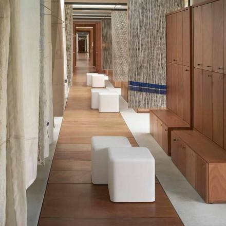 Zachte kubus polyurethaan kruk Slide Soft Cube made Italy