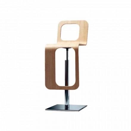 Moderne designkeukenkruk in eikenhout en metaal - Signorotto