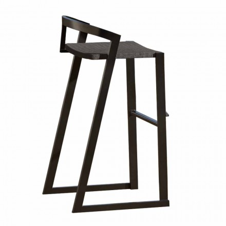 Design kruk voor buiten in hoogwaardig aluminium, 3 stuks - Filomena