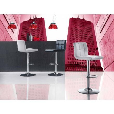 Opklapbare stoel met modern design, zitting in ecologisch leer - Delfina