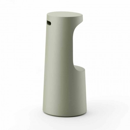 Hoge designkruk in mat polyethyleen voor buiten Made in Italy - Forlina