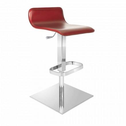 Design kruk met verstelbare stoel en chroom voetstuk van Inigo