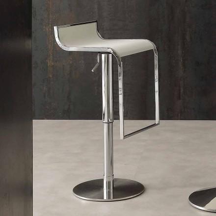 Moderne design kruk, bekleed met Eco-leer - Arbore