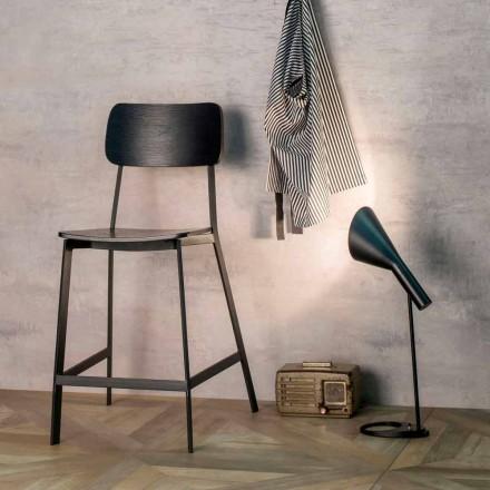 Elmas modern design kruk H 97 cm, gemaakt van hout en metaal