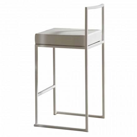 Vaste stoel in ecologisch leer, modern design H 65 cm - Alina