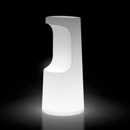 Lichtgevende buitenkruk in polyethyleen met LED-licht Made in Italy - Forlina