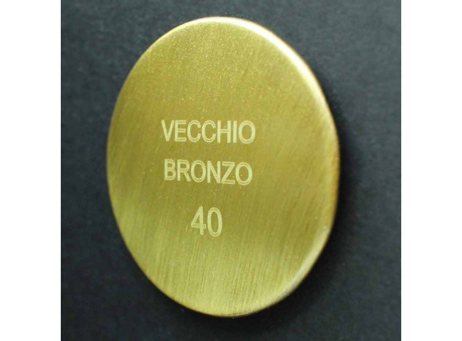 Antikalk douchekop in staal en klassiek messing Made in Italy - Mingo