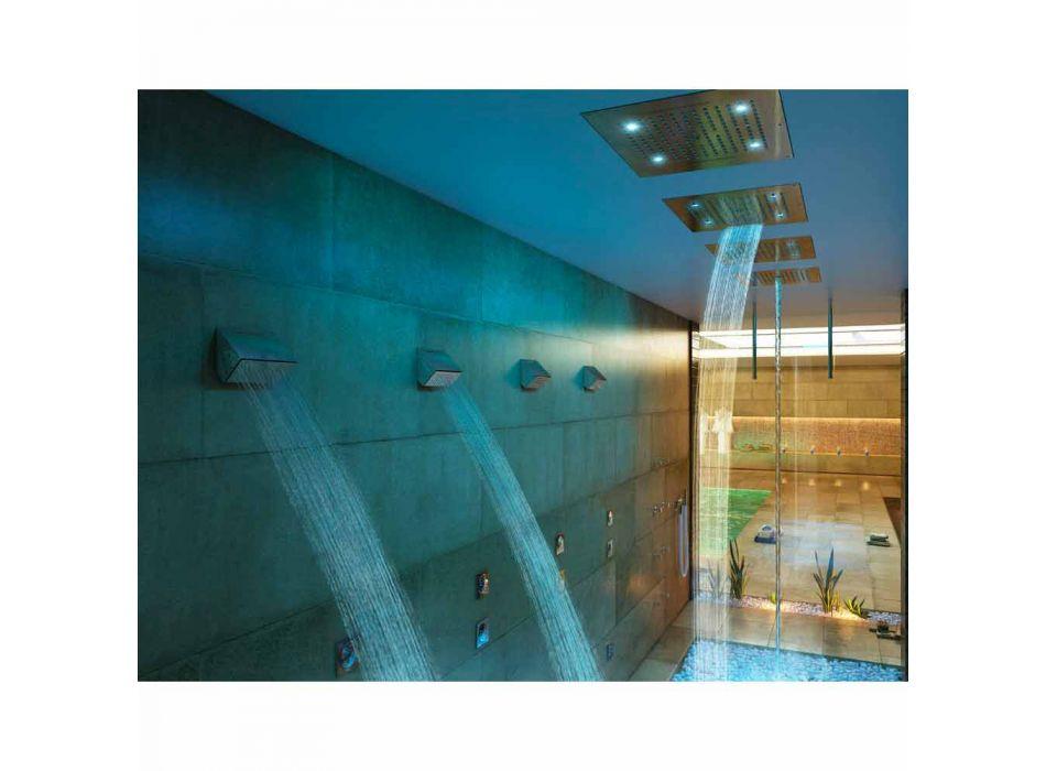 Plafond douchekop met twee jets en kleurentherapie Dream