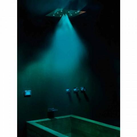 Plafond douchekop met kleurentherapie en twee jets Dream Neb