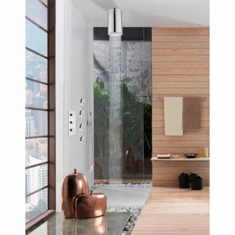 Overhead voor de originele douche met inzetstukken Swarovski Bossini