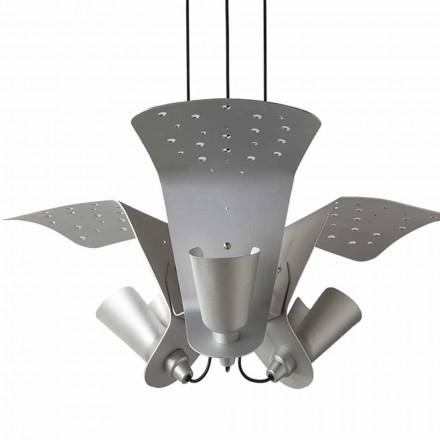 Ophanging met drie designlampen van metaal Tractor - Toscot