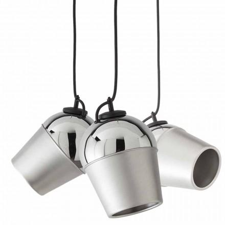 Opschorting met drie metalen lampen Magneet - Toscot