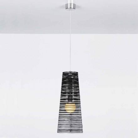 transparante Suspension ontwerp, kleurrijke decoratie, Shana diam. 25 cm