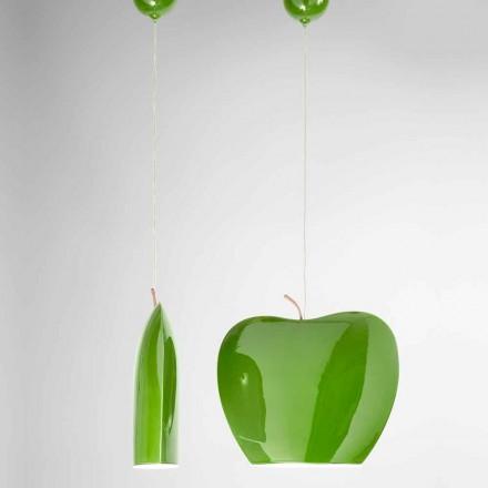 Suspensie in keramiek van appelvormig ontwerp - Fruit Aldo Bernardi