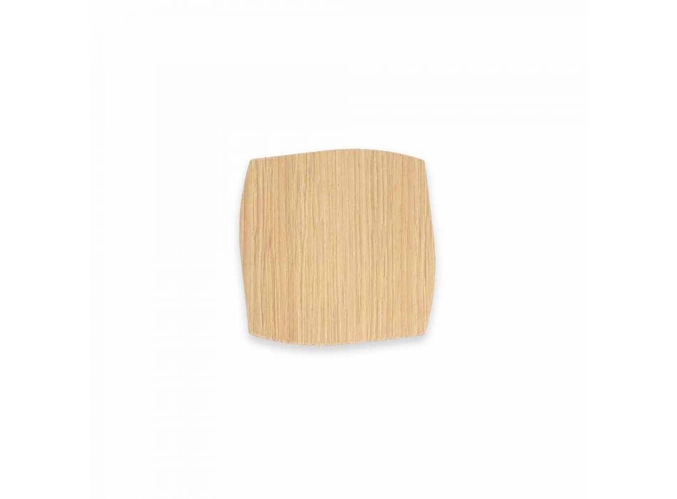 Moderne vierkante houten onderzetter gemaakt in Italië - Abraham