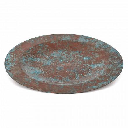 Handvertinde Groene of Bruine Koperen Placemat 31 cm 6 Stuks - Rocho