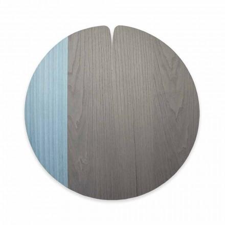 Modern tafeltje gemaakt in Italië in natuurlijk echt hout, 4 stukken - Stan