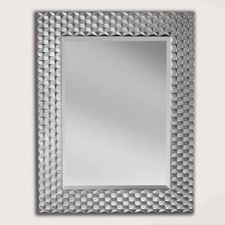 Wandspiegel in zilver of goud hout gemaakt in Giuseppe, Italië