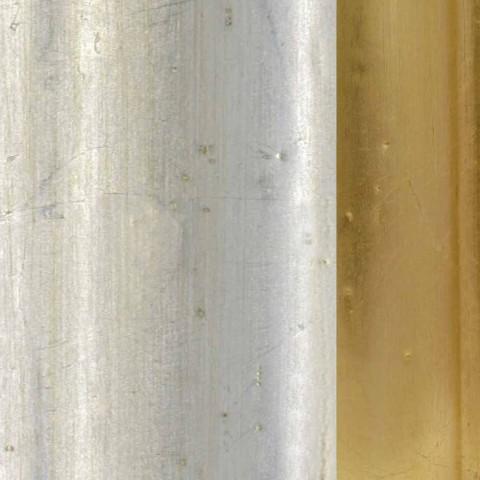 Sparren houten wandspiegel, handgemaakte Italiaanse gemaakt Elia hars fries