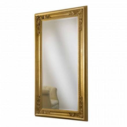 Wandspiegel goud, zilver handgemaakt hout gemaakt in Italië Michele