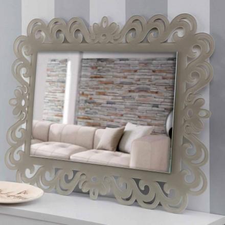 Modern Design Rechthoekige Wandspiegel in Plexiglas Tortora - Selly