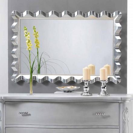 Spiegel van modern design muur versierd met parels Lane