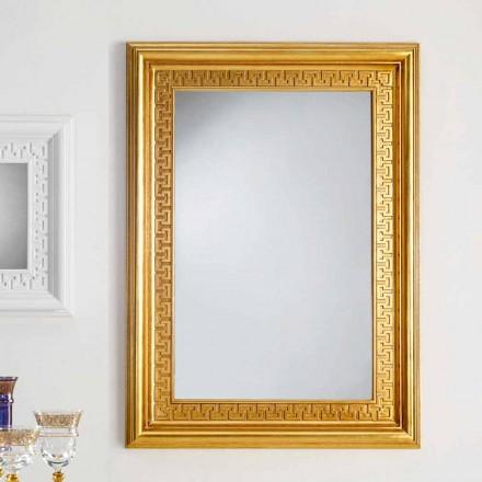 Spiegel ontwerpermuur met houten frame Viva, 96x132 cm
