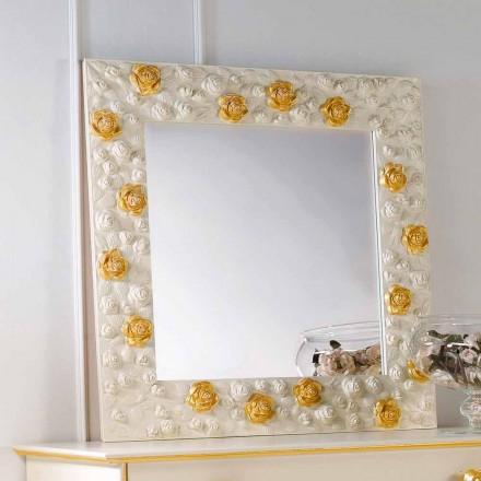 Mirror designer muur versierd met rozen Flower