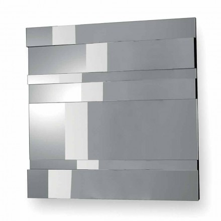 Modern design wandspiegel in glas en metaal gemaakt in Italië - Pallino