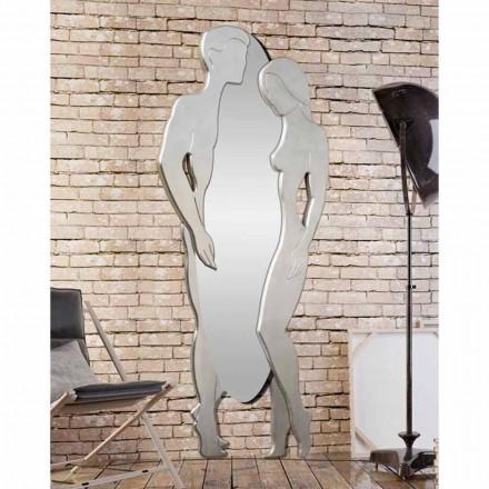 Man & vrouw modern design Mdf wandspiegel met de hand gevormd