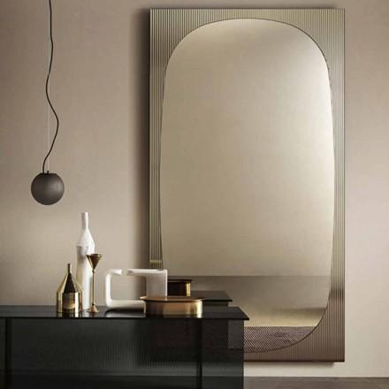 Moderne wandspiegel met bronzen spiegel gemaakt in Italië - Bandolero