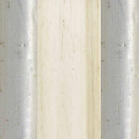 Spiraal houten vloerspiegel met voetstuk gemaakt in Jonni, Italië