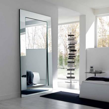 Rechthoekige moderne design vrijstaande spiegel gemaakt in Italië - Salamina