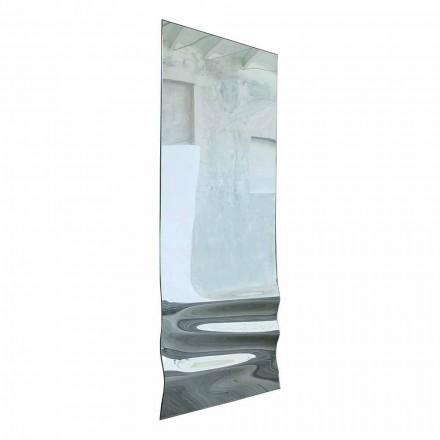 Grote spiegel in golvende kristalafwerking Made in Italy - Athena