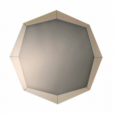 Designspiegel in gespiegelde kristalafwerking Made in Italy - Bolina
