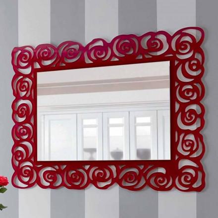 Grote moderne wandspiegel in rood plexiglas - Rosalinda