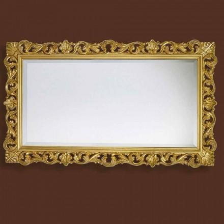 Spiegel in modern met de hand vervaardigd hout geproduceerd in Italië Nicol