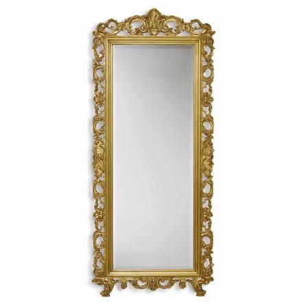 Spiegel muur ayous hout met de hand goud, zilver in Italië Francesco