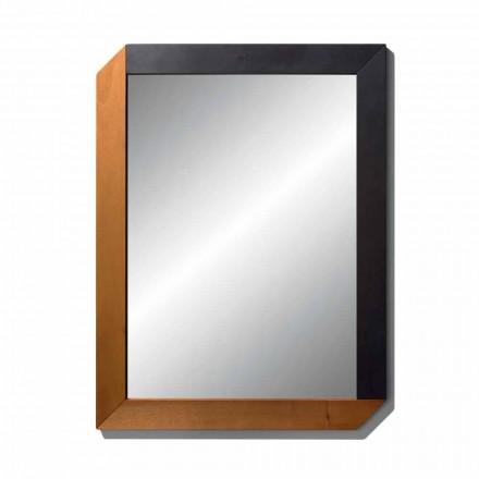 Rechthoekige spiegel met houten frame van Made in Italy Design - Cira