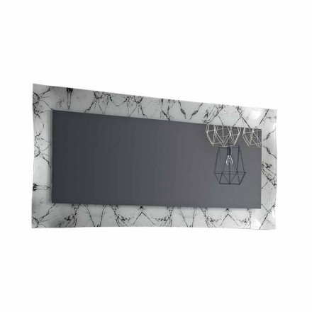Rechthoekige designspiegel met glazen frame Made in Italy - Eclisse