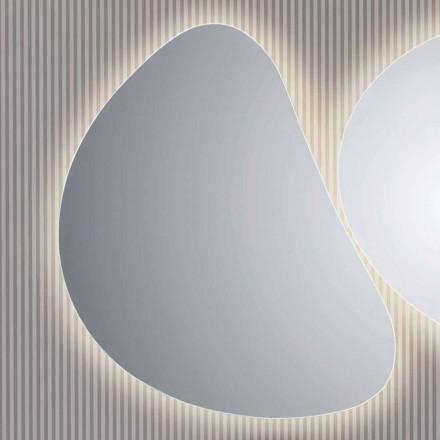 Spiegel badkamer muur met LED-achtergrondverlichting Pirro