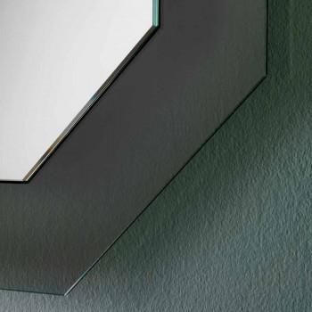 Moderne design wandspiegel met glazen frame en geïntegreerde led - Vitozzo