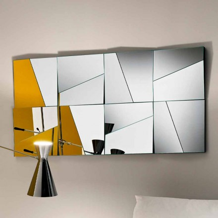 Modulaire wandspiegel met holle en bolle spiegels Made in Italy - Allegria