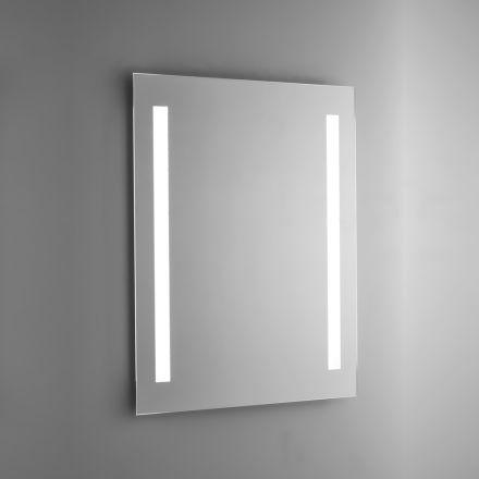 Badkamerspiegel van gepolijst draad met LED-achtergrondverlichting Made in Italy - Tony