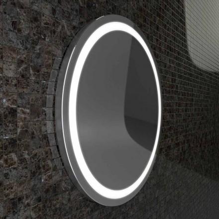 Spiegel met roestvrijstalen randen, modern design LED-verlichting Charly
